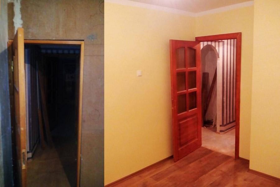 Remonts dzīvoklī. Durvju krāsošana, sienu krāsošana, grīdas seguma maiņa. Galdnieks.